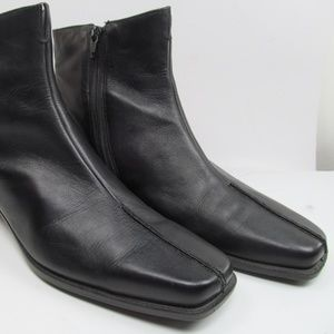 Ankle Boots Womens 42 US 11 Ecco Gortex Side zippe